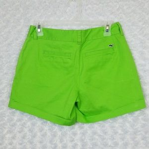 Vineyard Vines Size 0 Shorts Lime Green 5 inches
